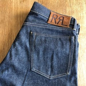 RRL rigid selvedge jeans